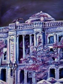 """Milwaukee Public Library, 2016 Oil on canvas, 18"""" x 24"""" SOLD"""