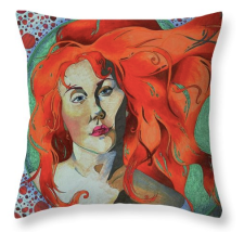 Portrait in Marker pillow